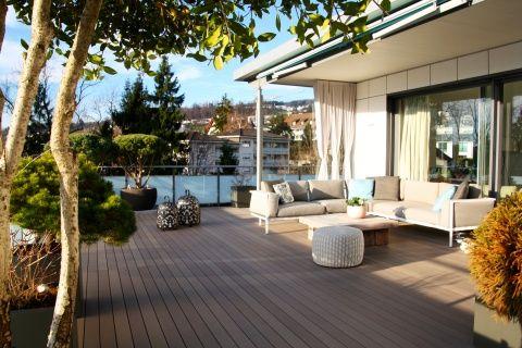 Terrasse mit gemütlicher Lounge #terrasse #lounge #gartenmöbel