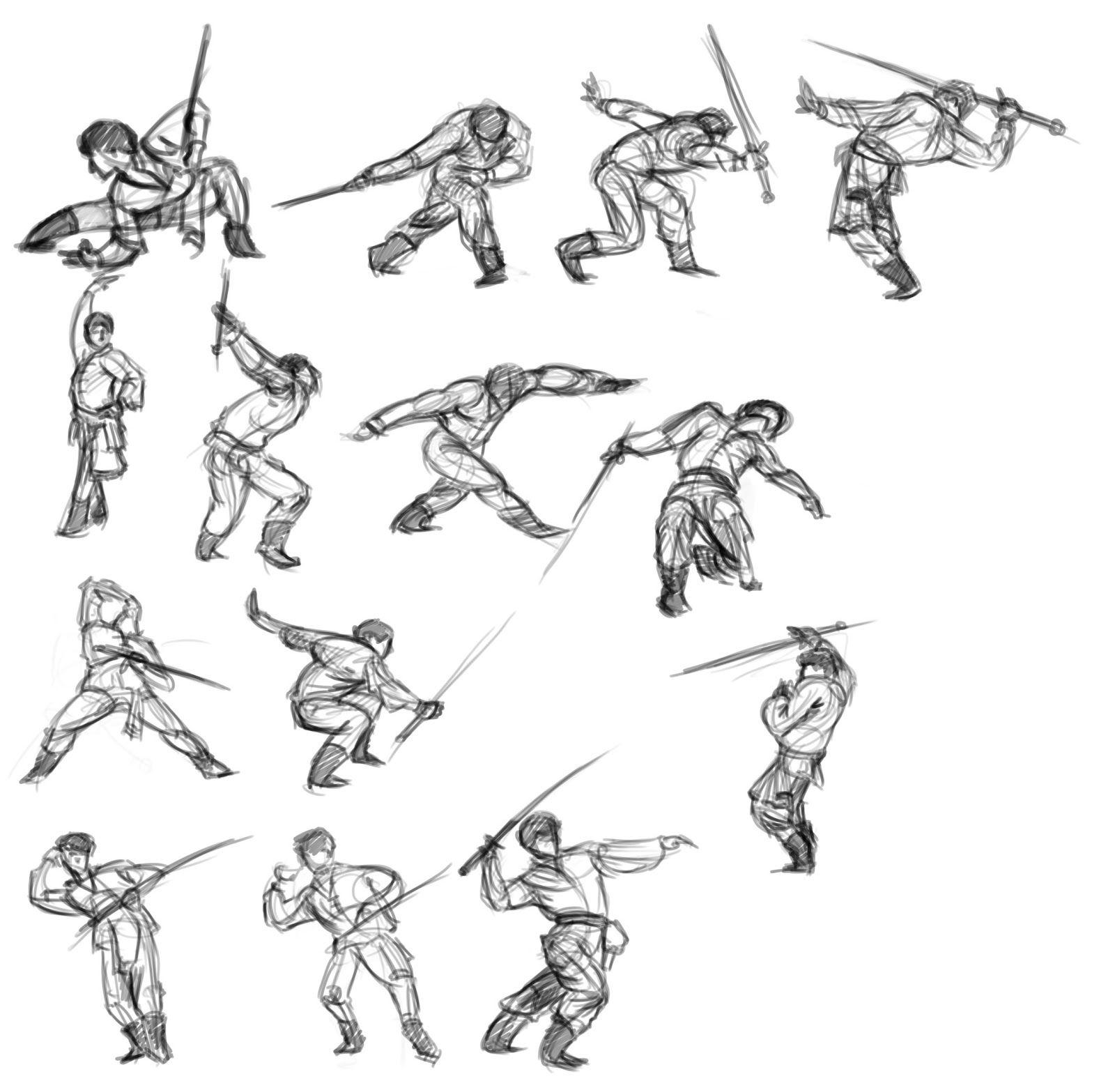 How do i write a sword fighting scene