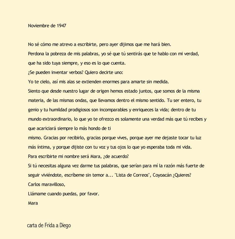 Carta De Frida Kahlo A Diego Rivera Frida Kahlo Frida Cartas De Frida Kahlo