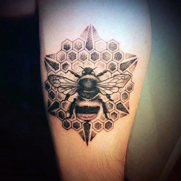 ff5c44472 80 Honeycomb Tattoo Designs For Men - Hexagon Ink Ideas | Best ...