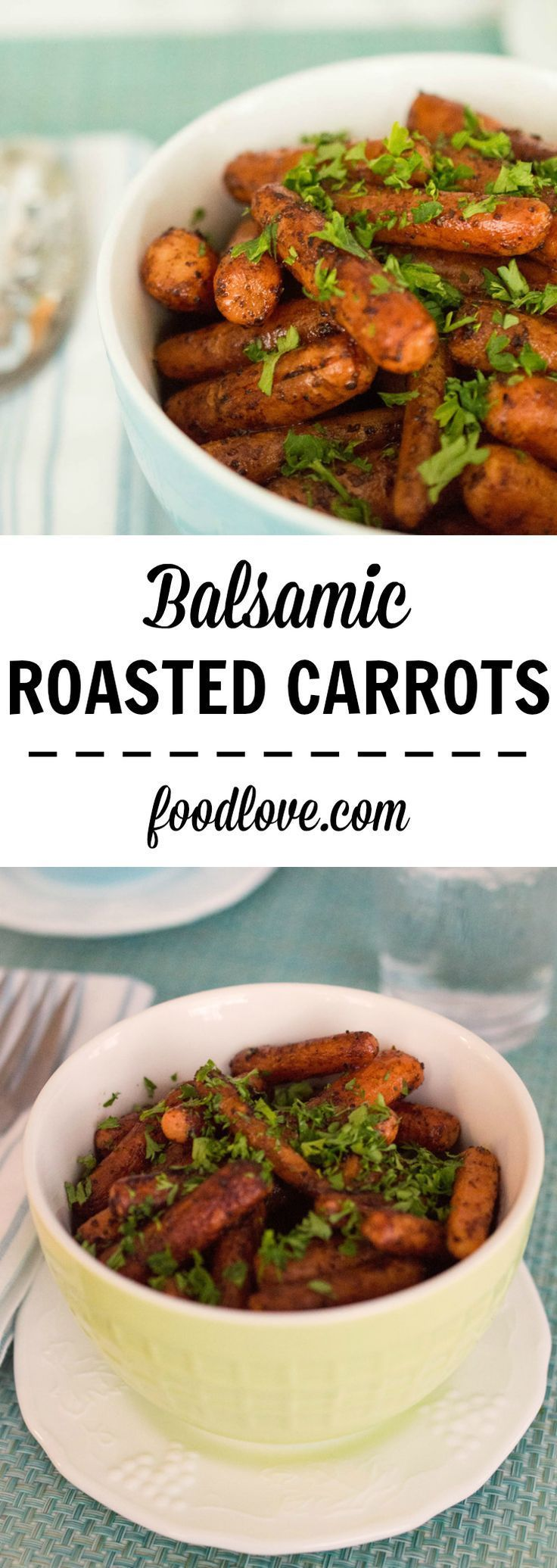 Tangy, sweet and salty, with a deep roasted flavor and a hint of garlic, these balsamic roasted carrots require only five minutes of prep time.