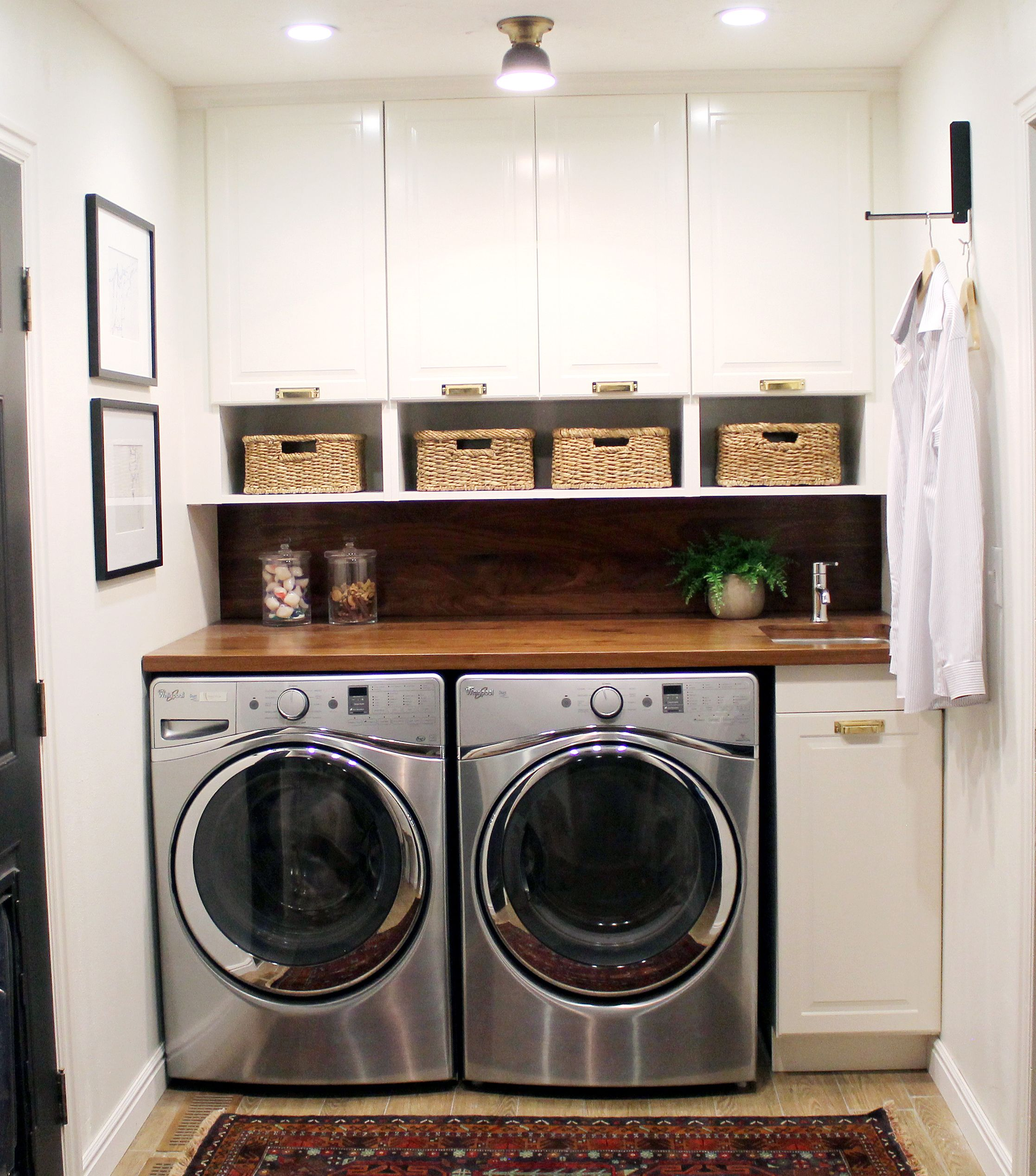 60 Beautiful Small Laundry Room Designs: Before And After: A Bathroom Turned Laundry Room