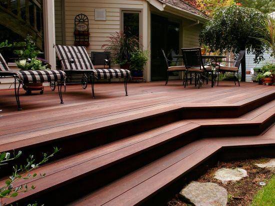 Bangkirai wood deck - 20 great design ideas for the garden Wood
