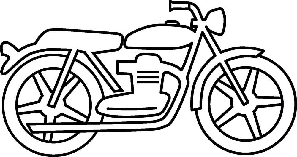 Printable Motorcycle Coloring Pages For Preschoolers Motorcycle