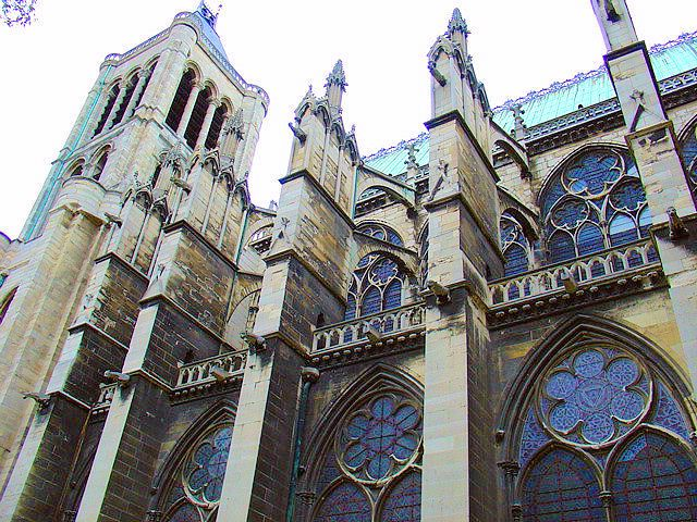 This Is An Image Of The Flying Buttress From Gothic Cathedral Basilica Saint Denis