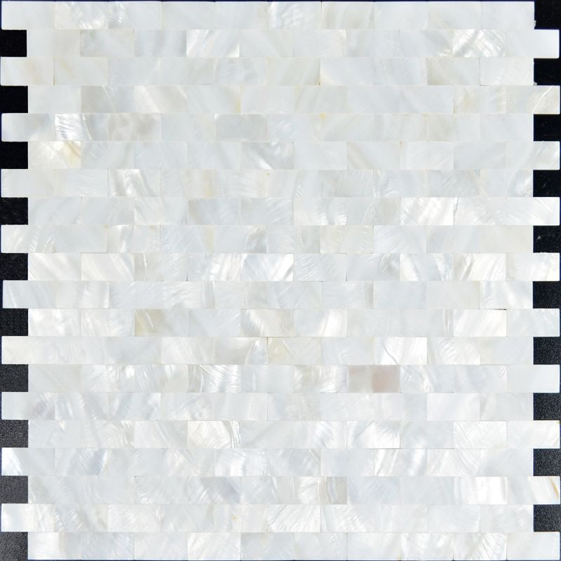Mother of pearl subway tile backsplash for kitchen and bathroom ...