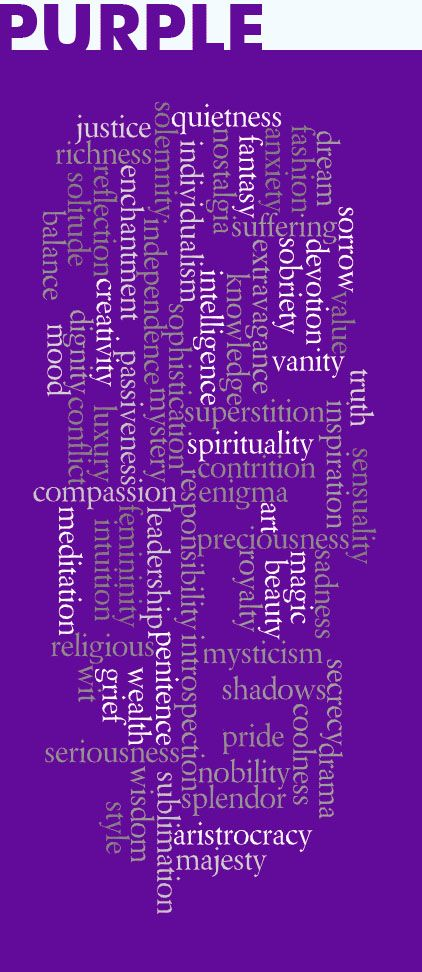 The color PURPLE means so many things ...