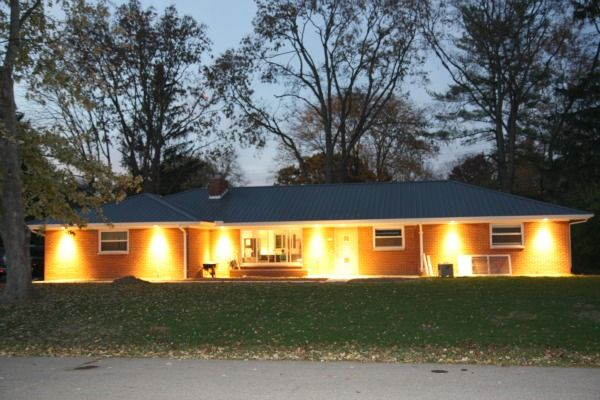 Exterior Downlighting Installed Under The Eaves Best Exterior