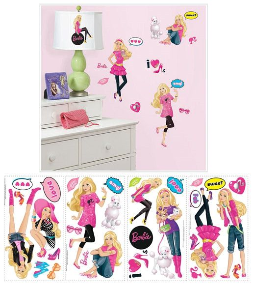 Barbie Wall Stickers   Wall Sticker Outlet