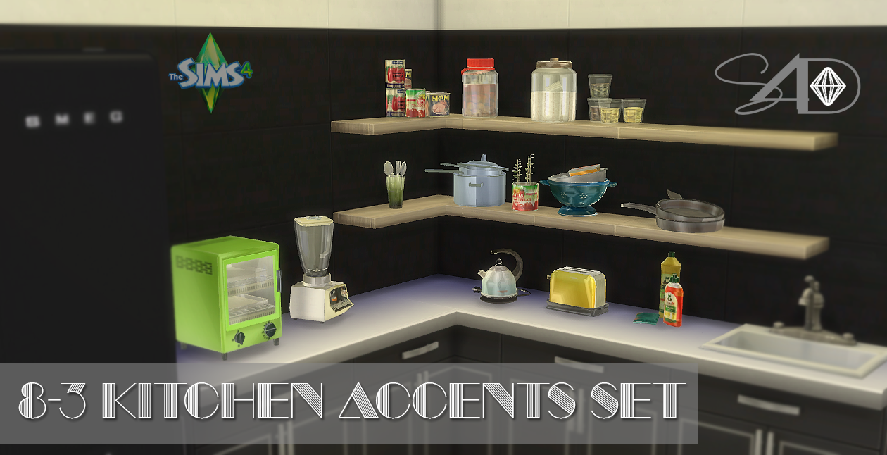 Sims 3 Kitchen Lana Cc Finds Ts2 To Ts4 Conversion Of 8 3 Kitchen Accents Set