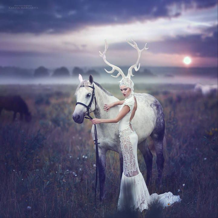 Russian Photographer Creates Stunning Visual Narratives Inspired - Russian photographer takes enchanting fairytale photos featuring wild animals
