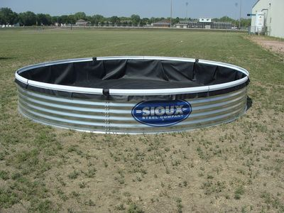 Bottomless Stock Tank With Liner Is 15 Feet And 25 Inches Tall And