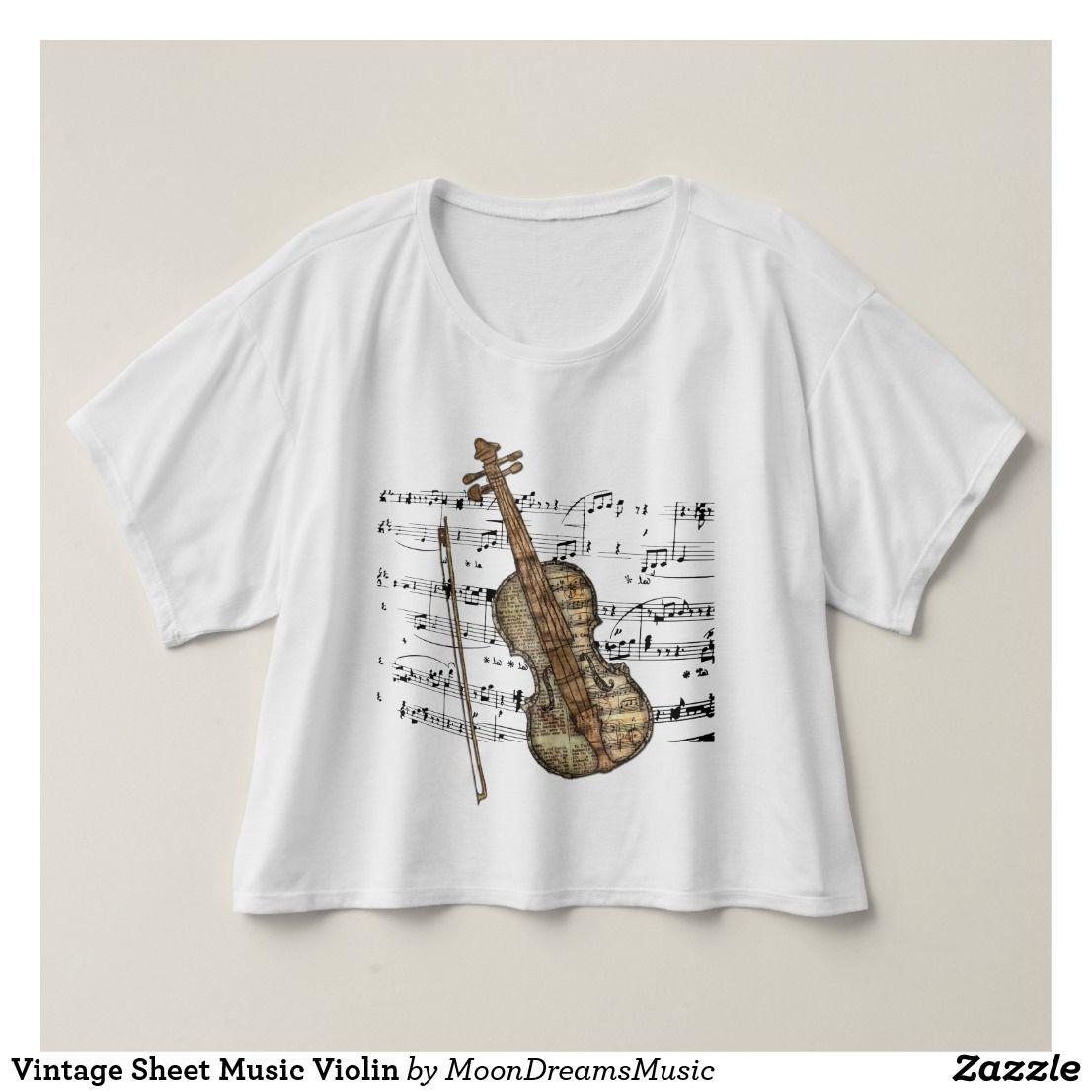 Vintage Sheet Music Violin T-shirt | Zazzle.com #vintagesheetmusic