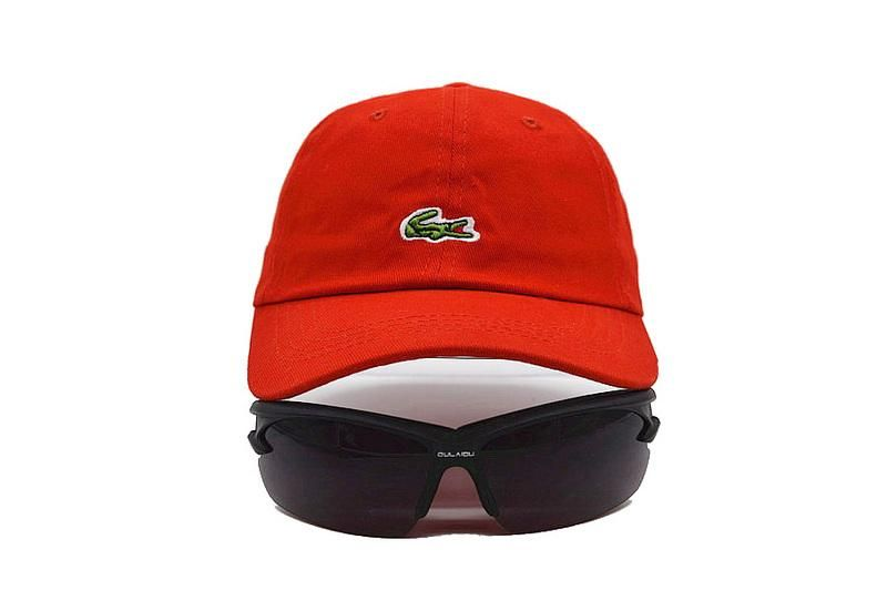 Mens   Womens Lacoste The Small Iconic Crocodile Logo Embroidery Trending  Fashion Adjustable Strapback Cap - Red 6eddbf0c14e