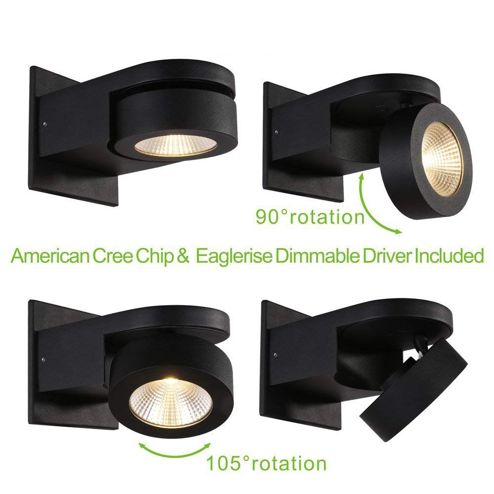 Runnly Led Wall Sconce Light Track Spot Black Lighting With Cree
