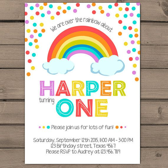 rainbow birthday invitation rainbow party invitation rainbow