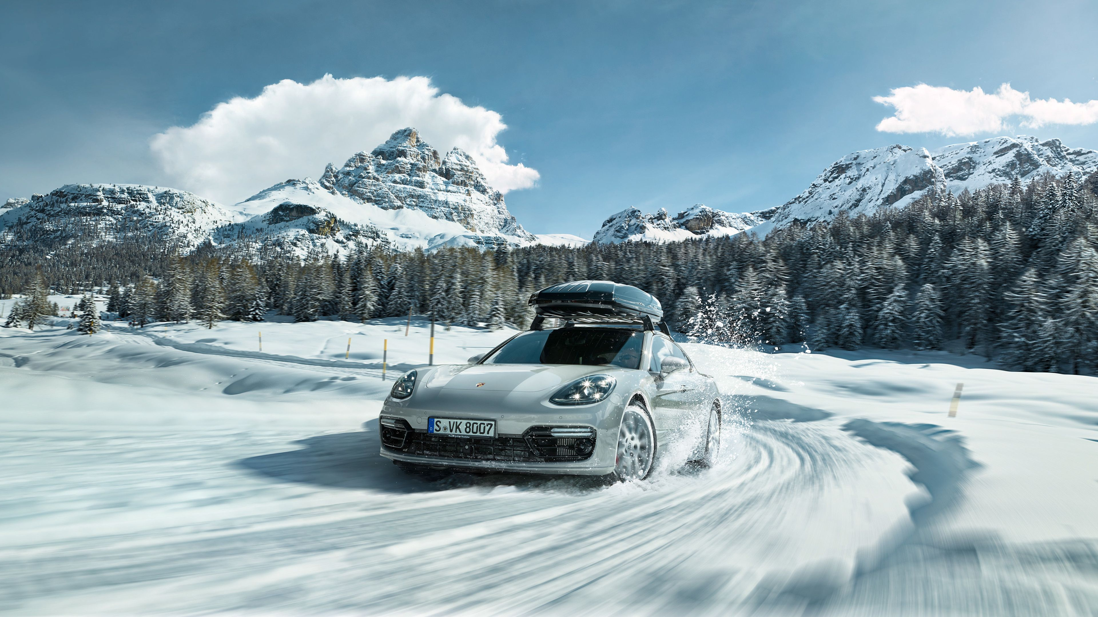 Porsche In Snow 4k snow wallpapers, porsche wallpapers, hd