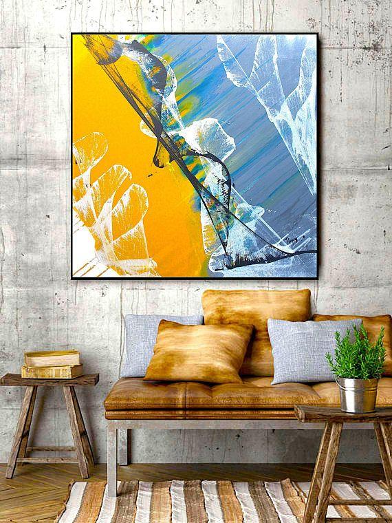 Art print abstract painting modern artwork contemporary wall art ...