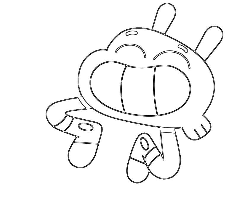 Darwin Watterson Coloring Pages Free Printable Coloring Pages Cartoon Coloring Pages