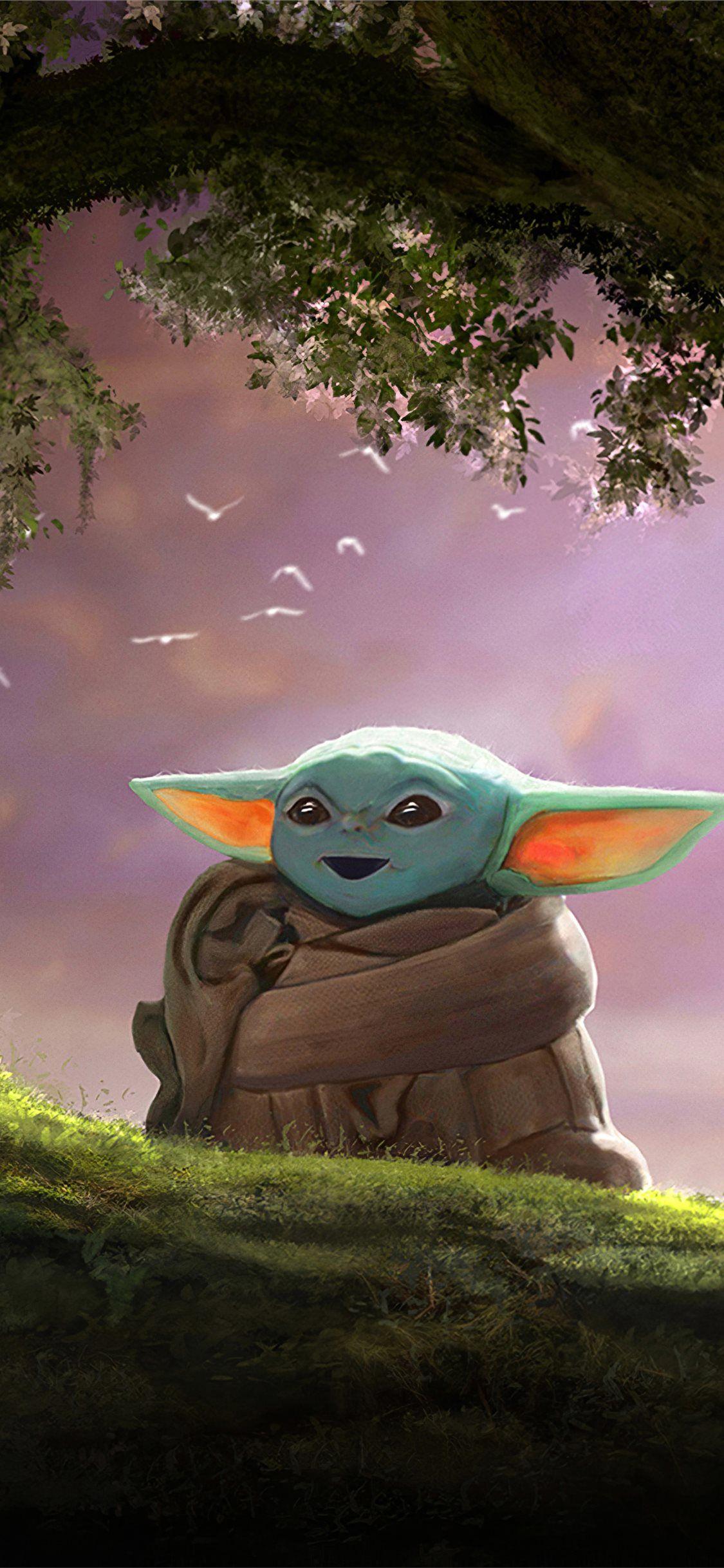 Baby Yoda Fanart 4k Starwars 4k Deviantart Movies Iphonexwallpaper Iphone Background Wallpaper Cute Disney Drawings Free Iphone Wallpaper