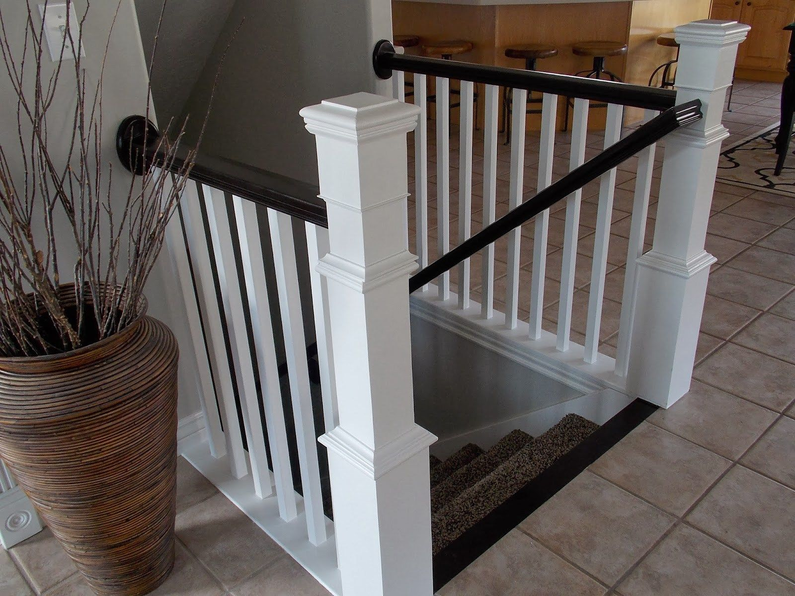 Diy stair banister with new newel post and spindles tda