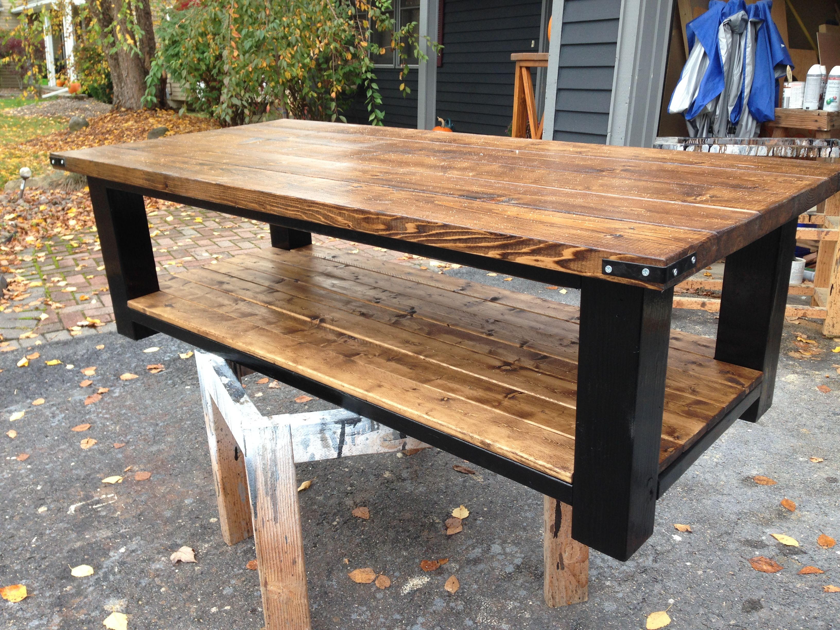 4x4 leg coffee table Woody s Projects Pinterest