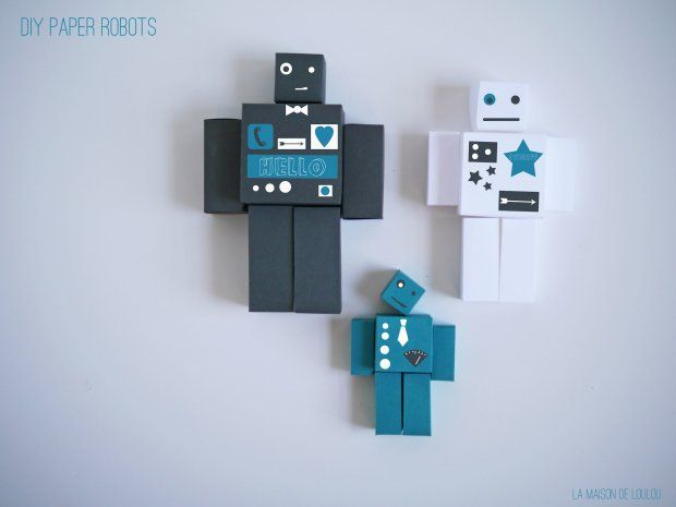 Free Cube Template For Diy Paper Robot By La Maison De Loulou