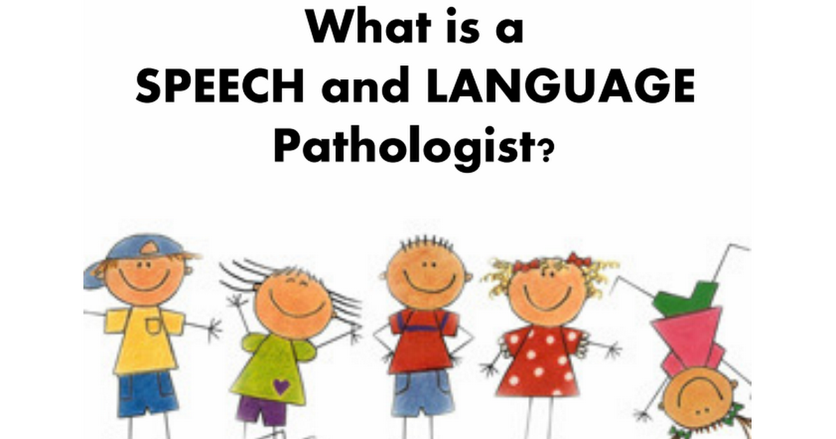 Speech Fun Factory What Is A Speech PathologistPdf  Speech