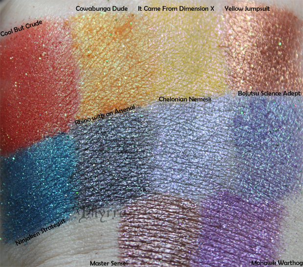 Geek Chic Turtle Power Collection Review and Swatches
