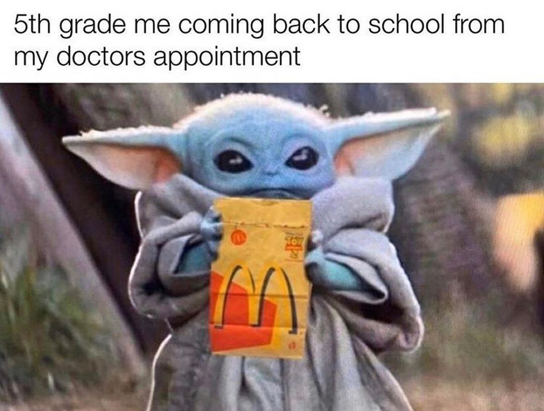 "Baby Yoda Memes on Instagram ""McDonald's with chicken"