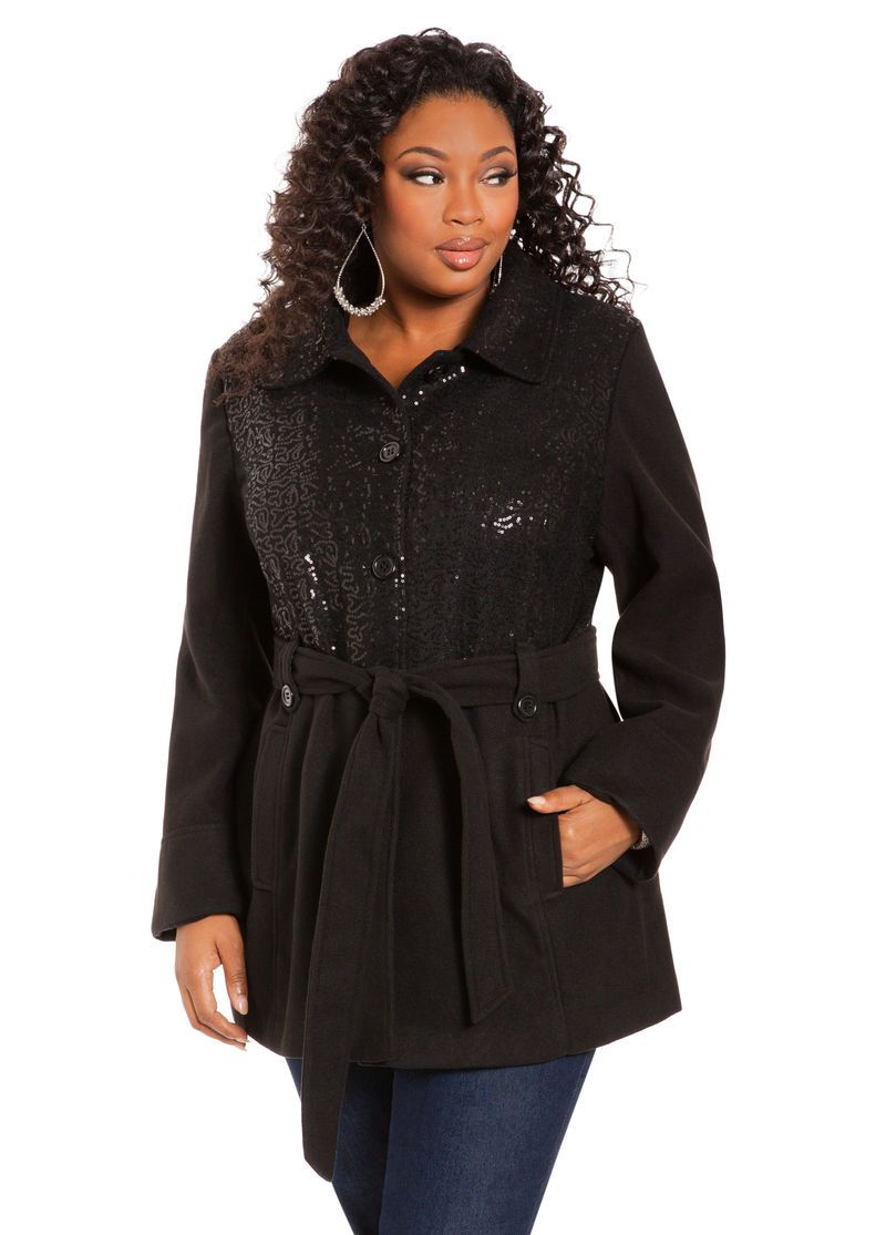 c6f9fba52c2 Sequin Coat - Ashley Stewart - WANT!!!!! On sale too!!! Ahhhh