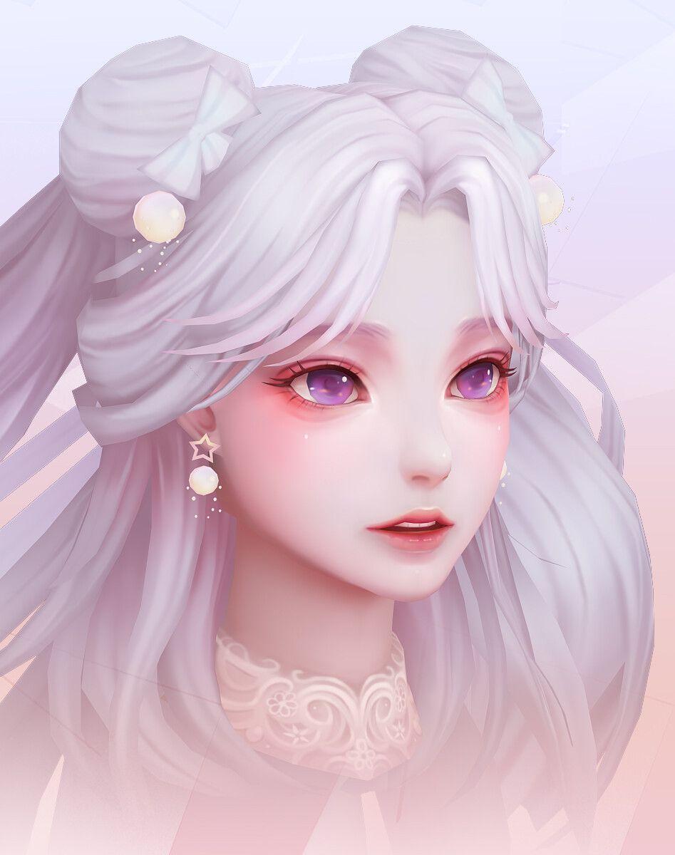 Artstation 3d Girl Face Practice Joker Y Digital Art Girl Anime Art Girl Art Girl