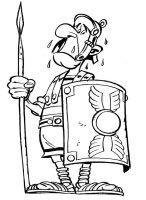 Dibujo De Un Soldado Romano Enemigo De Asterix Para Colorear Dibujos