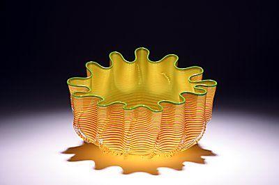 Epiphany Glass - Lemon Striped Splash