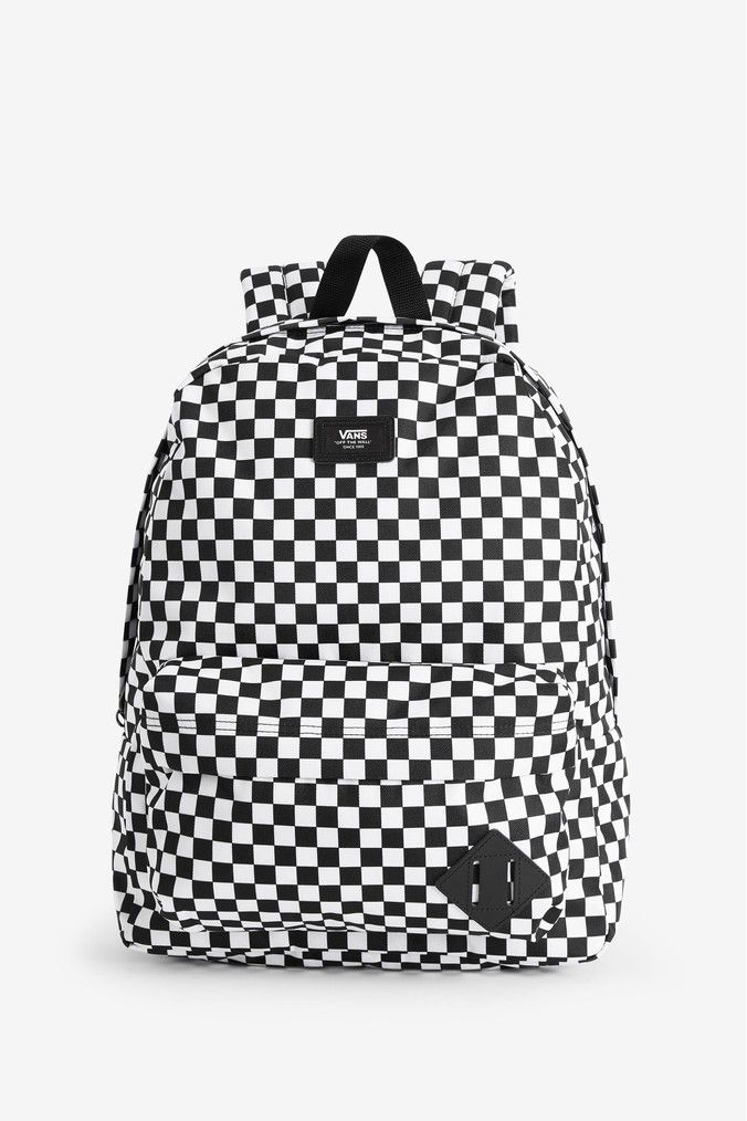 Mens Vans Checker Backpack Black | Vans bags, Vans