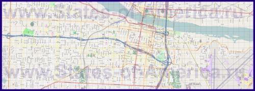 Подробная карта города Литл-Рок