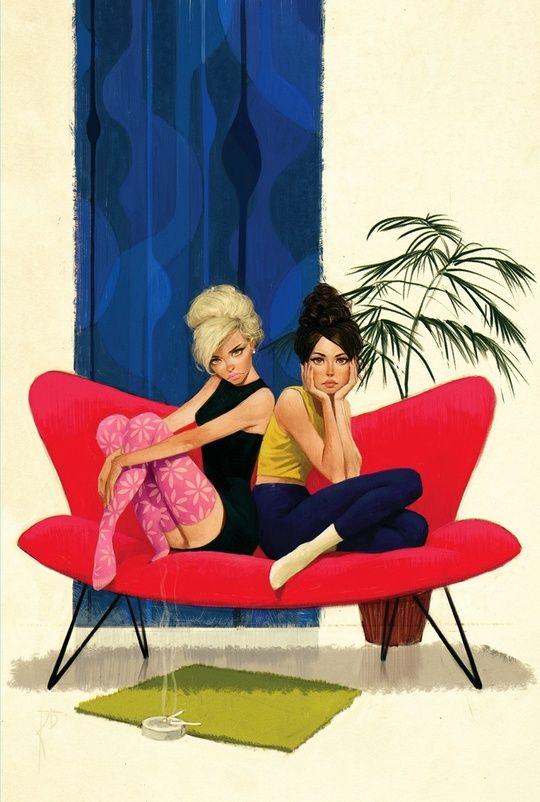 2girls by Waldemar von Kozak