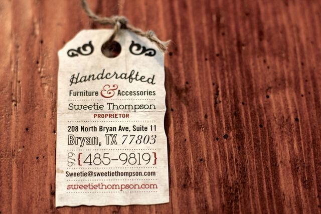 Vintage Clothing Tag With Unique Typography For Handmade Furniture Business