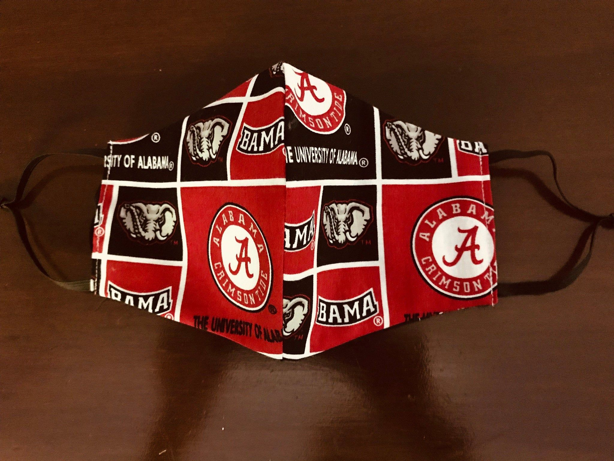 University Of Alabama Face Mask With Filter Pocket Etsy In 2020 Alabama Crimson Alabama Crimson Tide Etsy
