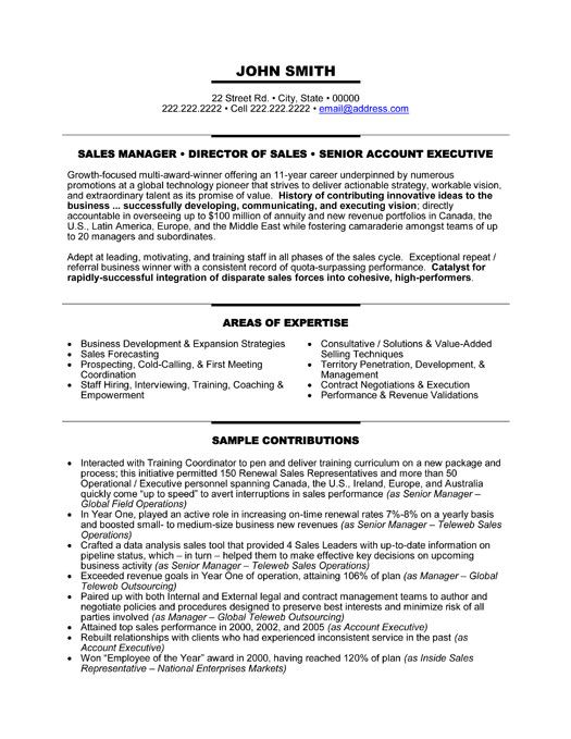 Click Here to Download this Senior Manager Resume Template! http - Business Development Representative Sample Resume