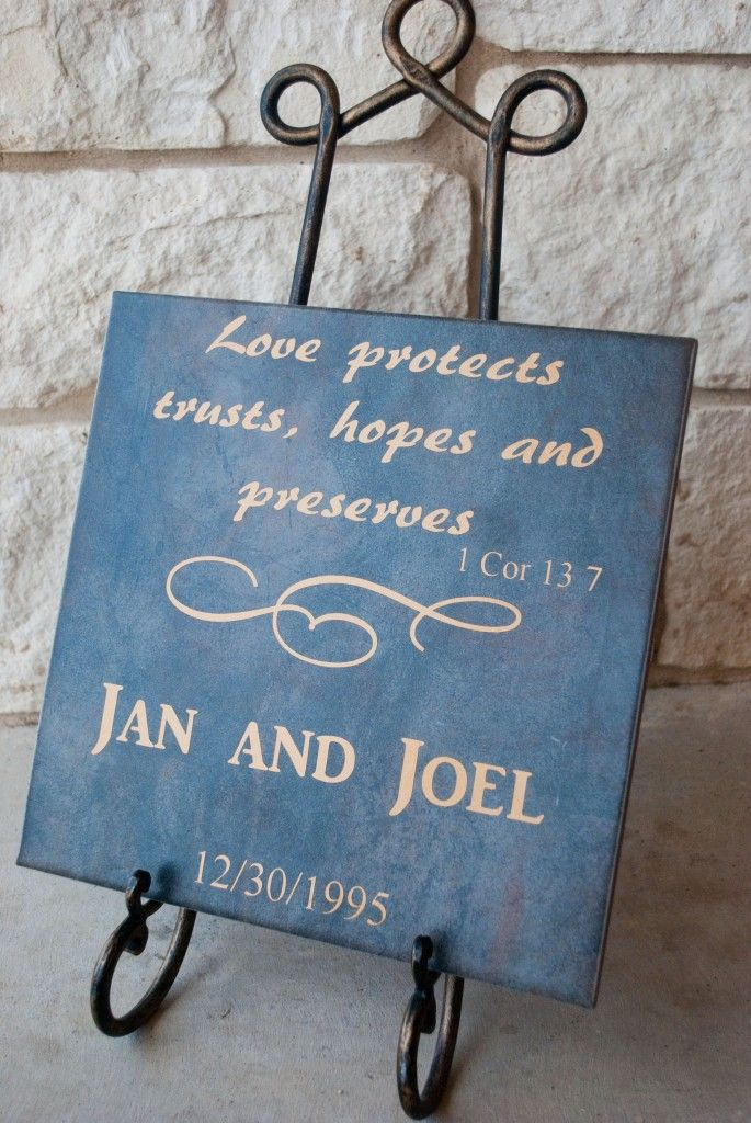 1 Cor 137 Large Tile Diy wedding gifts, Wedding