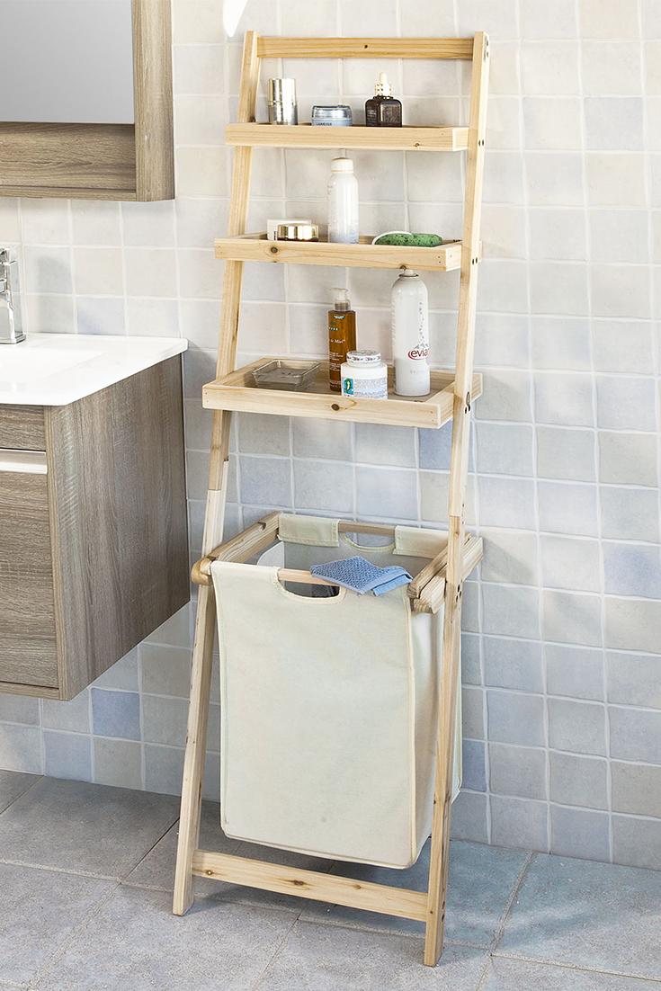 Sobuy Badregal Leiterregal Mit Handtuchleiter Und Waschebeutel Frg160 N Handtuchleiter Waschekorb Badezimmer Ablage