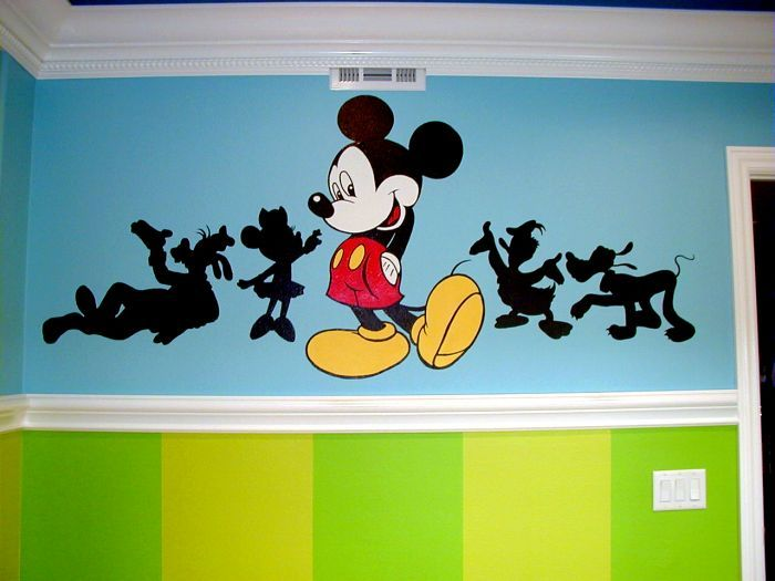 We Are Painting The Nursery Like This But Using Different Mickey