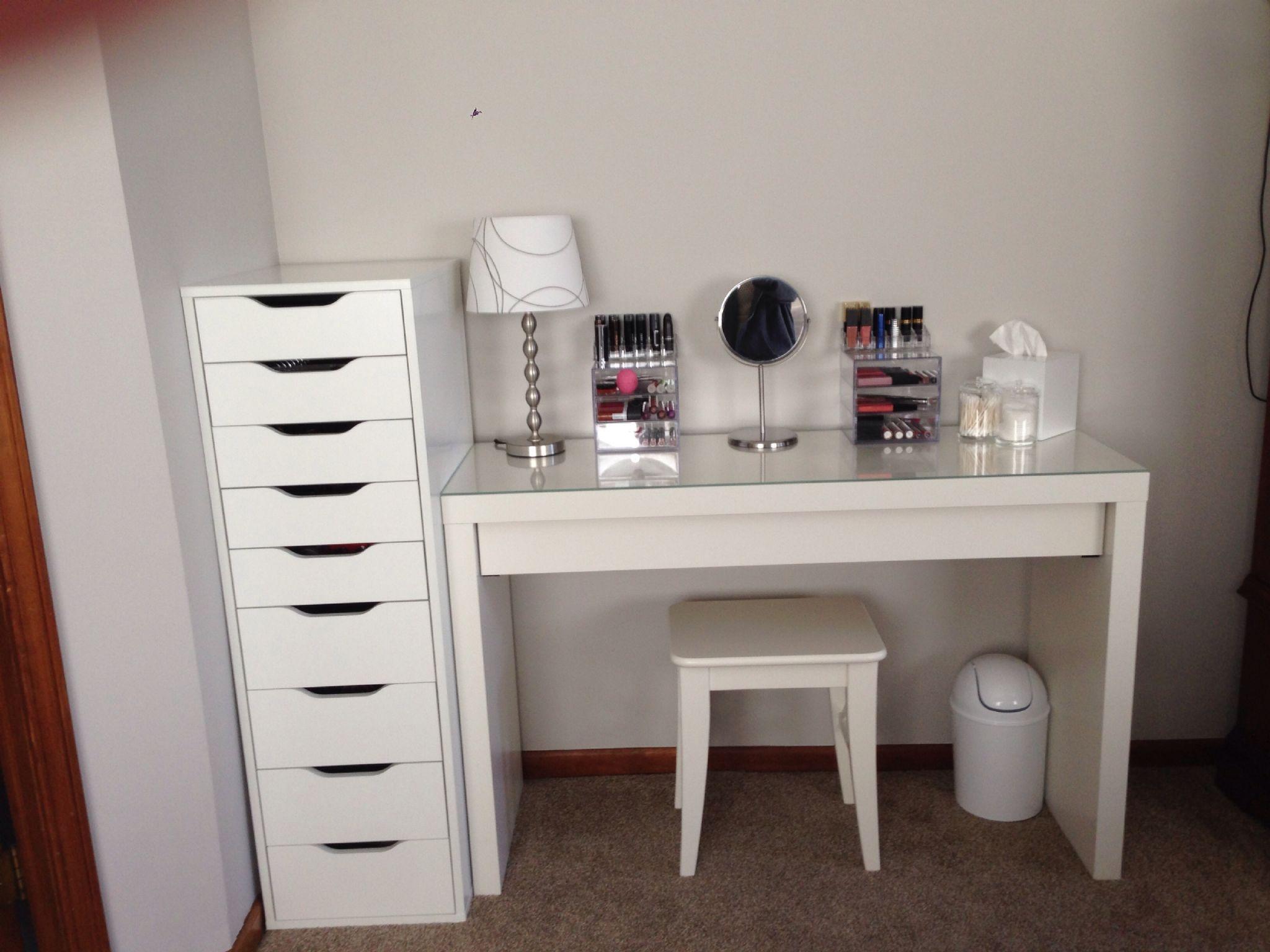 Ikea Alex Malm Table List Vanity Bedroom