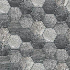 Textures Texture seamless Hexagonal stone tile texture seamless