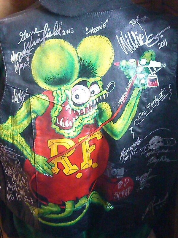 Rat Fink Vest By John Deltgen Painted Leather Jackets