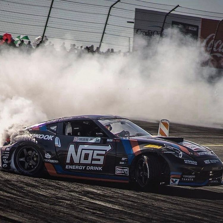 #TeamChampion's Chris Forsberg burned some rubber at the first Formula DRIFT race of the season in Long Beach, CA!