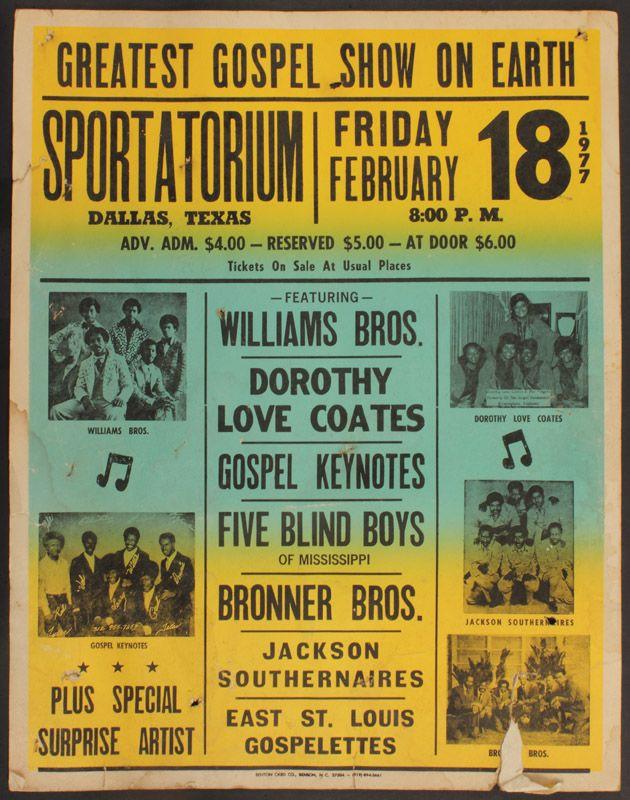 Vintage Gospel Concert Poster Vintage Concert Posters Concert Posters Music Poster