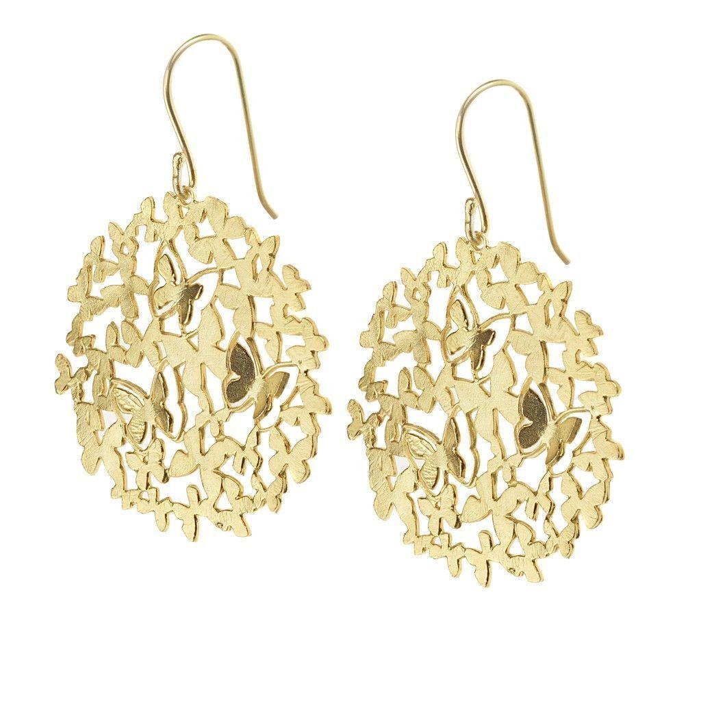 Eloise butterfly earrings gold