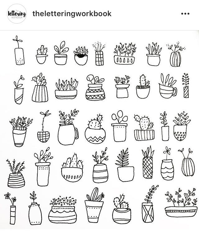 Pin By Ariana Chavez On Tattoo Plant Doodle Doodle Coloring Plant Drawing